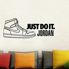 Air Jordan Nike Shoe Just Do It Instant Modern Home Wall Sticker Vinyl Size LG
