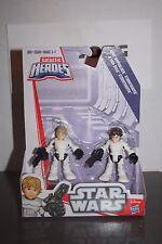 Playskool Star Wars Galactic Heroes  Han Solo & Luke Skywalker Stormtrooper NEW!