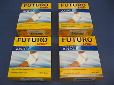 FUTURO SPORT 4 PACK OF ANKLE ELASTIC BRACES SIZE LARGE SPRAIN SUPPORT L NETBALL