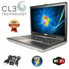 Fast Dell Precision Laptop Core 2 Duo 15' LCD 4GB WIFI Win 7 DVD/CDRW Notebook
