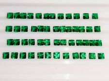 7.15 Ct 50 Pcs Finest Square Shape Zambian Emerald Lot Loose Gemstone