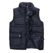 Men's Down Cotton Waistcoat Sleeveless Jacket Vest Overcoat Winter Warm Outwear