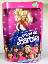 NIB BARBIE DOLL 1989 UNICEF UNITED STATES COMMITTEE FOR UNICEF