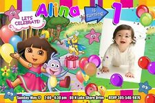 DORA THE EXPLORER BIRTHDAY PARTY INVITATION 1ST CUSTOM INVITE DIEGO -15 DESIGNS