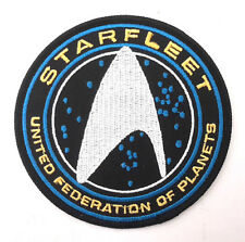"Star Trek Beyond- Starfleet UFP Silver DELUXE 4"" Embroidered Patch (STPA-SFC-11)"