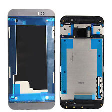 Original htc one m9 carcasa LCD frame marco intermedio housing Bezel cover gris NUEVO