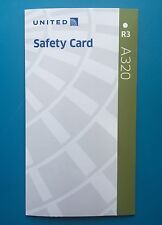 UNITED AIRLINES SAFETY CARD--AIRBUS 320--2016--REV#3 NEWEST CARD!!