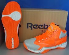 MENS REEBOK Q96 CROSSEXAMINE in colors NEON SIGN / WHITE / SILVER SIZE 13