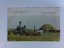 HArvesting Scene in Manitoba W G Macfarlane No 459 1906? Quebec  Stamp/Posted