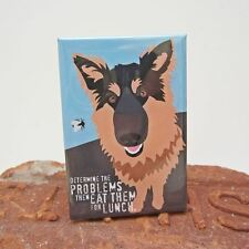 German Shepherd Lunch Art Magnet (GO001MAGGSDLUN) - Free Shipping