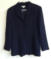 Size 6 Bebe Womans Black Blazer Polyester Rayon Long Sleeve Career Jacket Lined