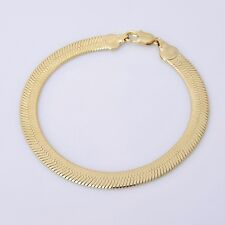 "Cool 18K  Yellow Gold Plated Men's Bracelet Chain 8.6"" 12.3g B53"