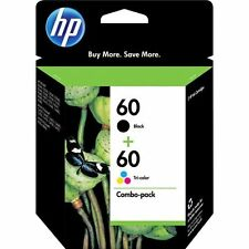 Exp 2017 HP 60 Black + Color Genuine Combo Pack Ink Cartridge For D1660 F2440