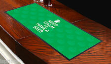 KEEP CALM AND HAVE A BEER GREEN BAR RUNNER IDEAL FOR HOME COCKTAIL PARTY BAR MAT