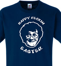 Happy Feckin Easter Funny Mens T-Shirt , MRS BROWNS BOYS. Present Gift, 8 Sizes