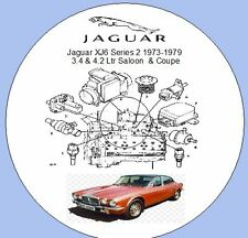 JAGUAR xj6 SERIE 2 1973-1979 3.4, 4.2 LITRI Berlina, Coupe FACTORY Workshop Manuale