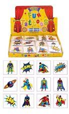 576 Super Hero Temporary Children's Tattoos Loot Bag Job Lot Comes asstd design