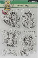 New Penny Black RUBBER STAMP clear Acrylic CUTE AS A BUG FAIRY set free usa ship