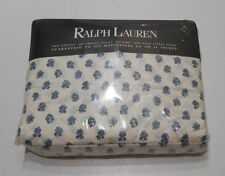 NEW Rare RALPH LAUREN Renne Foulard Floral King Fitted French Country Blue White