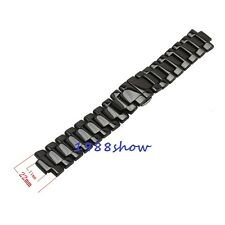 New Shiny Black Band 11/22mm Ceramic Watch Bracelet Replacement Strap For AR1456