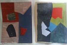 SERGE POLIAKOFF 2 Original Lithograph Prints '50s Abstract MIDCENTURY MODERN ART