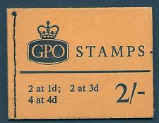 sg N23p(b) 2/- Violet 8mm variety - Wildings GPO booklet with all panes MNH