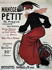 COMMERCIAL ADVERT MANEGE PETIT BICYCLES VINTAGE FRANCE POSTER ART PRINT BB1893A