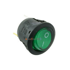 Imported 5Pcs Mini 3 Pin Round SPDT ON-OFF Rocker Switch Snap-in Green