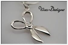 Cute Miniature Stylish Scissors 925 Sterling Silver Charm