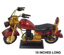 large WOODEN COLLECTABLE BIKER MOTORCYCLE handcrafted wood bike ROOM DECORATION