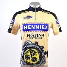 Genuine Santini SMS Festina Watches Italian Short Sleeve Cycling Jersey Size XL
