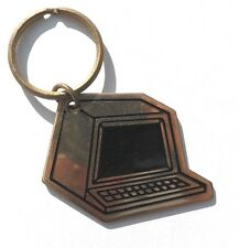 Vintage 1970'S Gold Color Old Computer Key Ring Key Chain by RUSS