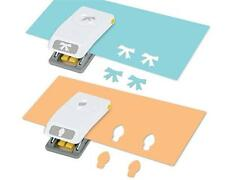 NEW EK Tools Scrapbooking Paper Punch - BULB & BOW - Set of 2 Small Punches
