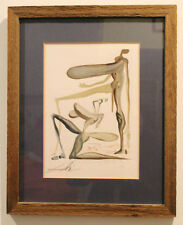 SALVADOR DALI Abstract Ladies With Large Breasts Artist Edition Lithograph
