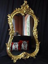 Large Antique Louis XVI French Style Bowed Acanthus Pier Glass Gilt Wall Mirror
