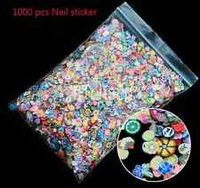 1000pcs 3D Fruit Animals Fimo Slice Clay DIY Nail Art Tips Sticker Decoration HS