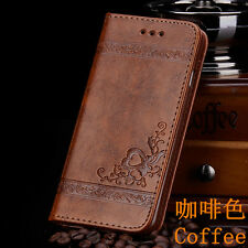 Retro Leather Wallet Card Pack Case Cover For Apple iPhone 4S/5S/SE/6/6S/7/7Plus