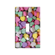 Candy Hearts - Plastic Wall Decor Toggle Light Switch Plate Cover