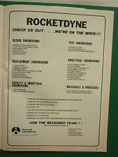 1/1978 PUB ROCKWELL ROCKETDYNE TECHNOLOGY SPACE SHUTTLE CARRIERS ORIGINAL ADVERT