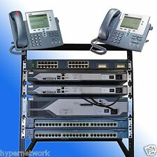 Cisco CCNA CCNP VOICE LAB 1x 2821 CME 8.6 2x 2811 IOS 15.1 1x 3550 POE RACK