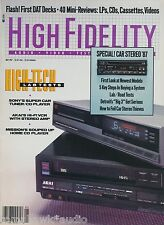 High Fidelity Mag May 1987 Mission PCM-4000, AR A-06, Sony CDX-R88, Zapco S-80