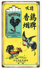 Rooster Cigarettes Tobacco Advertisement Sign