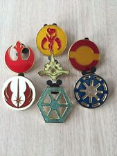 Disney Trading Pins Star Wars Emblems-lot of 7 pins-Fast Shipping by US Seller