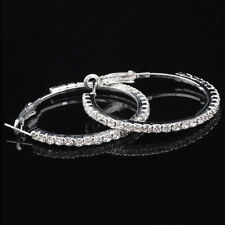 Elegant Ms Luxury Party Ear Hoop Dangle Diamond Crystal Earring Ring Rhinestone