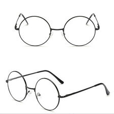 POP Retro Eyeglasses Big Round Metal Frame Clear Lens Glasses Nerd Spectacles