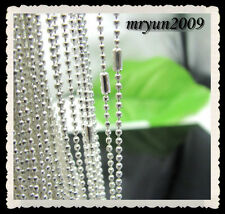 FREE Lots 20pcs Wholesale Silver plated Beads chain Necklace Findings Clasp 20""