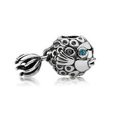 Authentic Pandora Charm Sterling Silver Splish Splash Blue Fish 791108TPP