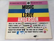 """ROYAL FRANSWORTH """"POPS"""" ORCHESTRA*MUSIC OF LEROY ANDERSON*DESIGN DCF 1012*1957*"""