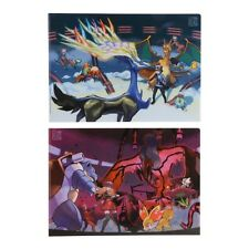 Pokemon Center Original Gallery Collectible Art Clear File Folder set of Two