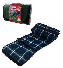 PORTABLE PICNIC RUG FOLDABLE BEACH MAT CAMPING BLANKET WITH CARRY CASE